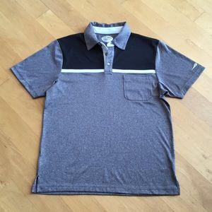 Grand Slam men's slim fit golf shirt polo gray